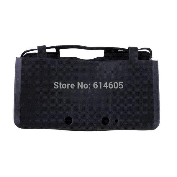 Черный силиконовый мягкий чехол кожи чехол сумка рукав для Nintendo 3DS консоли рукав обернуть рукав ноутбук