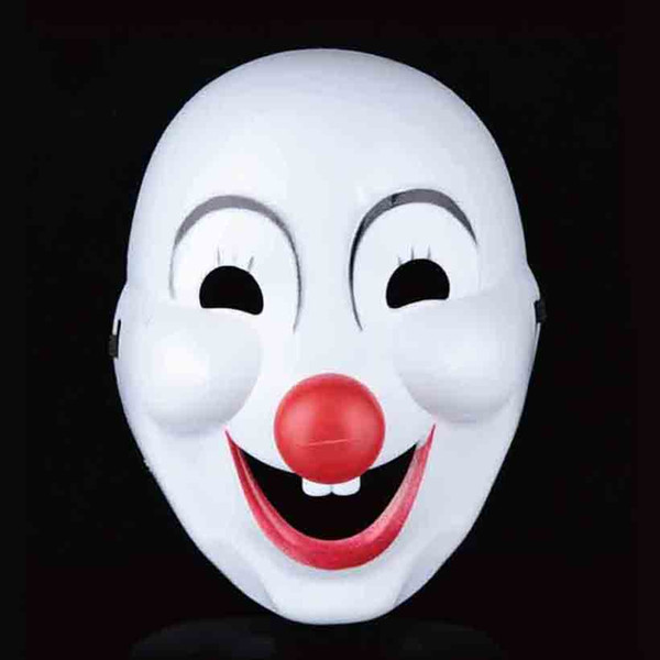 Halloween Party Jester/Jolly Mask Full Face PVC Cosplay Decoration Mask Masquerade Dancing Makeup Mask April Fool's Day Costume 10pcs SD320