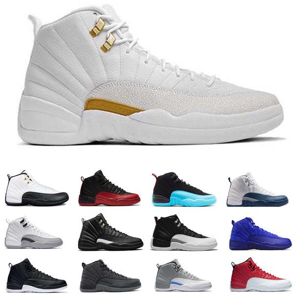 2019 12 j12 Баскетбол обувь Женщины Мужчины Такси Плей-офф Гамма Синий Серый Спорт 12 XII