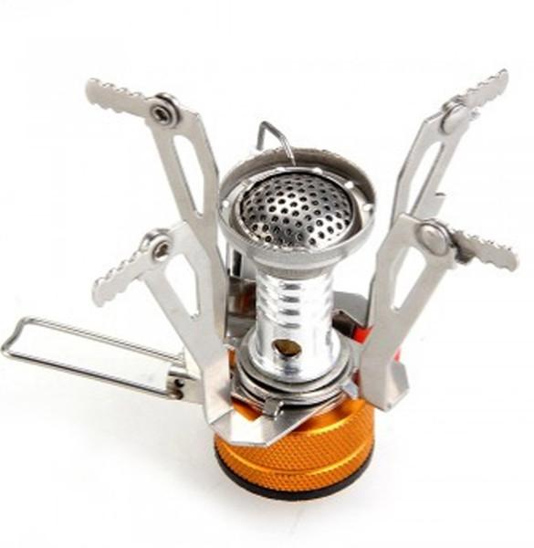 Stufa Ignitor antincendio elettronico in acciaio inox per campeggio Picnic Cookout Burner Stufa a gas portatile da campeggio esterna