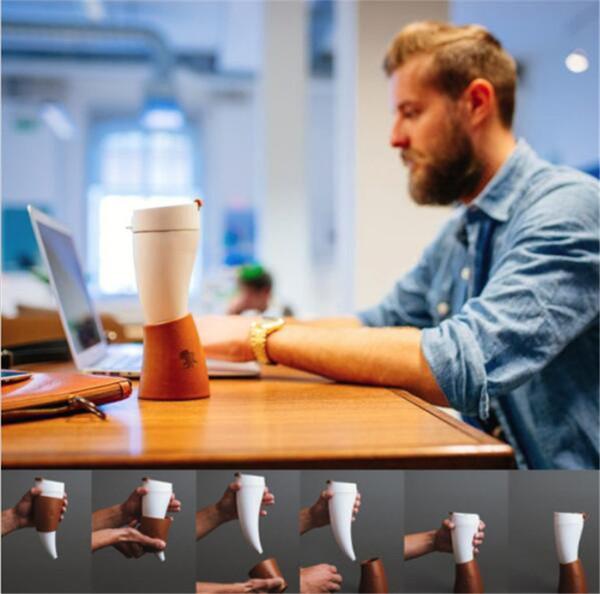 Diseño de cabra taza de cabra de cabra en forma de tazas de café taza de viaje de aislamiento de acero inoxidable 230ML termo taza de agua potable botella de viaje taza