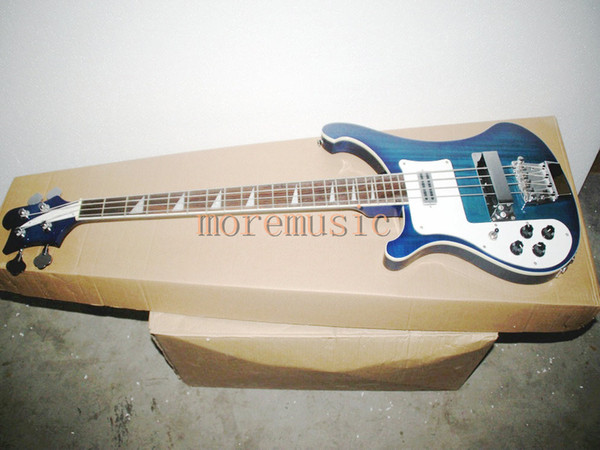 NEW Bule 4003 Left Hand Bass 4 Strings Electric Bass 2 output hole Top Musical instruments Speical High Quality