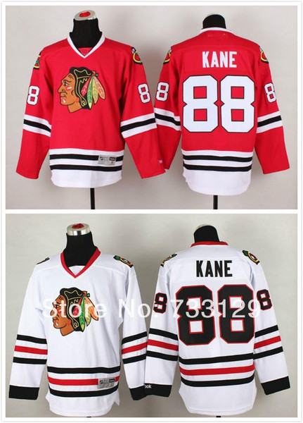 30 Teams-Wholesale 2014 stitched Chicago Blackhawks #88 Patrick kane Jersey with A patch Ice Hockey Jersey / Kane hockey shirt