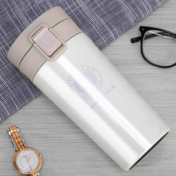 Auf Lager Transhome Edelstahl Tasse Kaffeetassen 380 ml Thermoskanne Mode Isolierung Wasserflasche Reisebecher Isolierflaschen