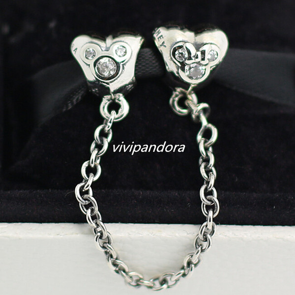 DIY European Safety chain Mickey Charm Spacer Beads Fit Necklace Bracelet   !!