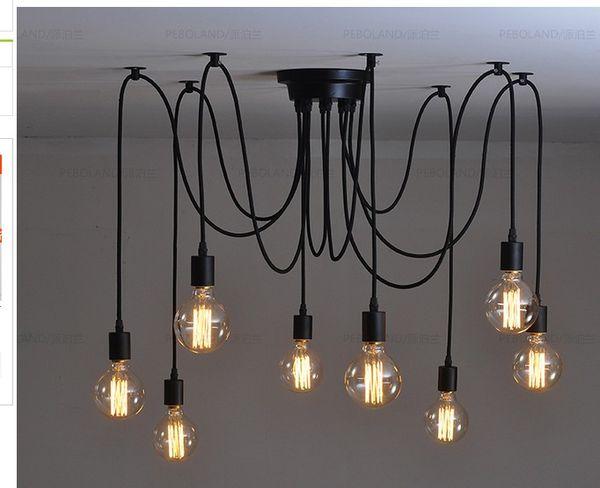 New Modern Led Pendant Lights Diy Vintage French 2 Meter 10 Lights
