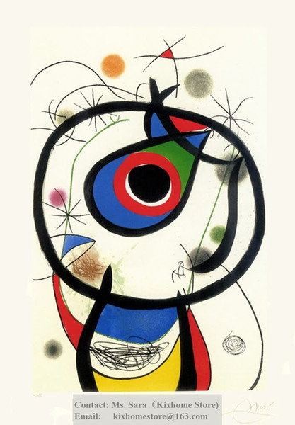 2019 Spanish Artist Joan Miro Gala A Side Ye Dirme Bask Hand Painted Famous Abstract Replica Oil Paintings On Canvas From Shimingmingmp 249 88