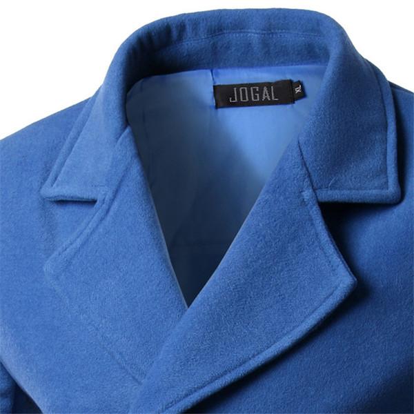 Herbst 2015 Modemarke Winter Herren Jacken Und Mäntel Herren Zweireiher Stilvolle Erbsenmäntel Männer Wollmantel Hohe Qualität Trenchcoats