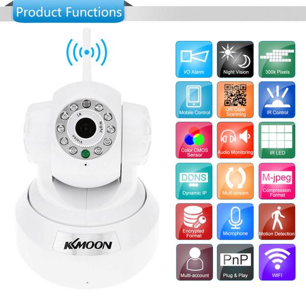 KKMOON HD 0.3MP IP Kamera PnP P2P Pan Tilt IR Schnitt WiFi Wireless Network IP Webcam CCTV Überwachungskameras Überwachung