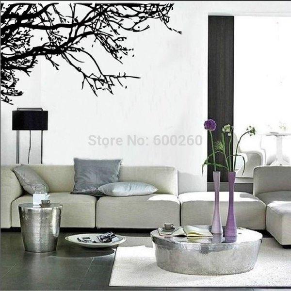 Large Tree Branch Wall Sticker Removable Decal Home Decor Vinyl Art Mural 2015 fashion free shipping hot sales
