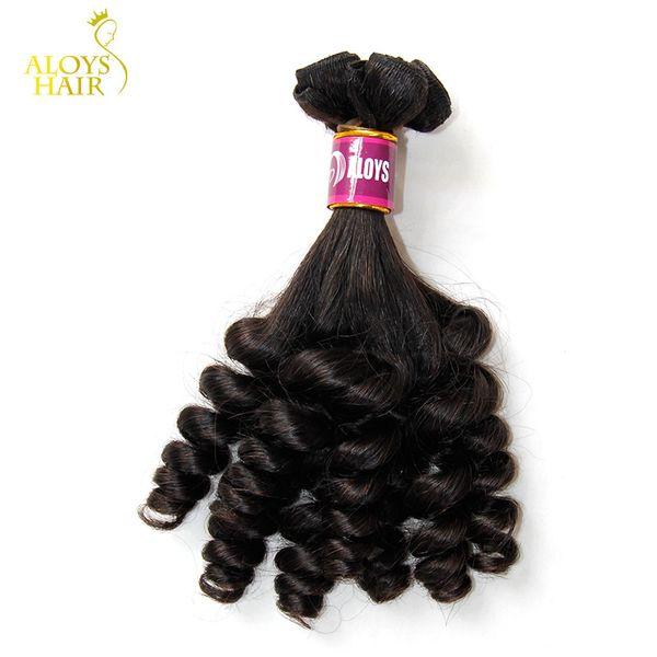 3PCS Lot Grade 8A Aunty Funmi Hair Unprocessed Virgin Indian Human Hair Weave Bundles Bouncy Spring Egg Curls Hair Extensions For UK/Nigeria