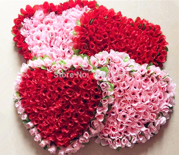 Os recém-chegados de uma peça linda coração forma rose flores para porta de parede do carro de casamento artificial flores decorativas