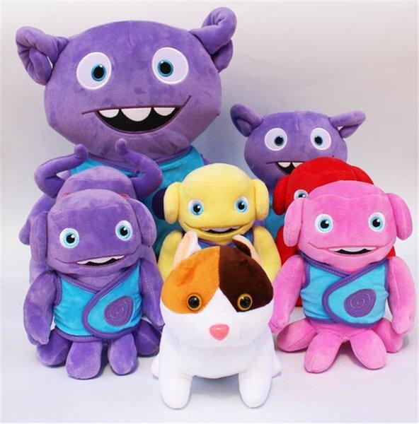 20pcs 5 designs 7.9 inch Figure Plush Toys Crazy Alien Tip Oh Captain Cat Plush Toy Kids Cartoon Doll D544