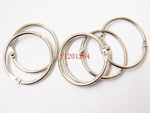 top popular 1000pcs lot Free shipping Hot Sale 50mm Book Hoop Binding Ring Binder Hoop Loose Leaf Ring DIY keyring 2021