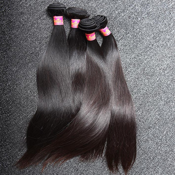 Unprocessed 100% Chinese Hair Weft 3bundles Natural Color Silky Straight Human Hair Extensions Free Shipping
