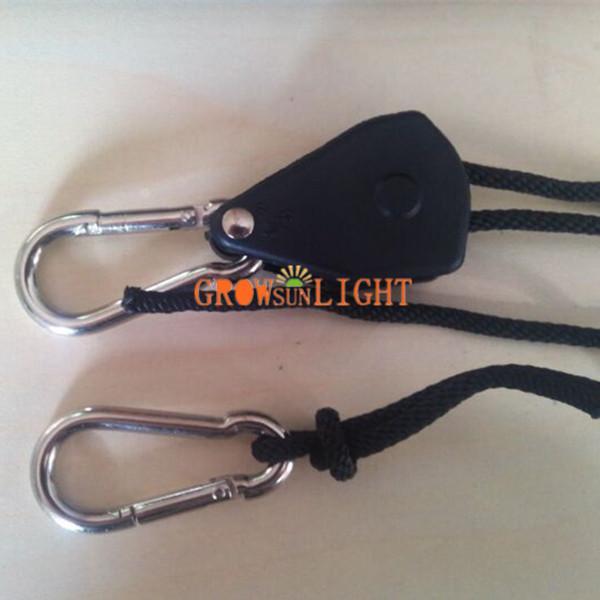 1 Pair 1//8 Rope Ratchet YOYO Easy Hanger Set For Hydroponics Grow Aquarium Light