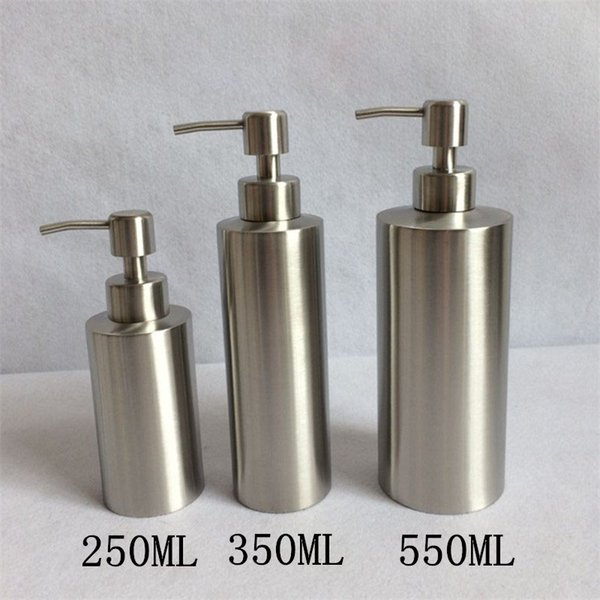 2019 Stainless Steel 250ml 350ml 550ml Liquid Soap Dispenser Kitchen  Bathroom Lotion Pump Storage Bottle ZA5378 From Sunnytech, $4.74 |  DHgate.Com