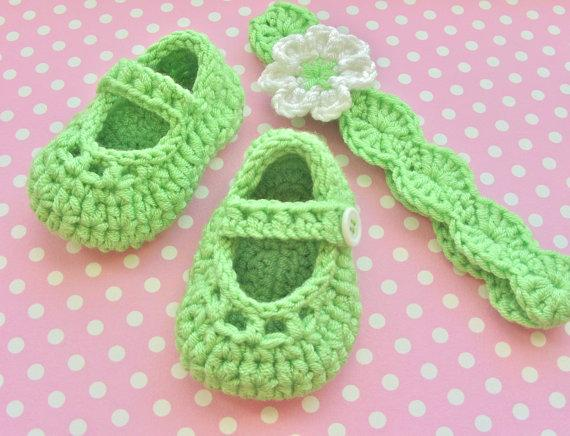 Crochet baby snow booties first walker shoes Crochet Flower Headband Shoes Cute Baby Shoes 0 to 12 Months 1 set 0-12M