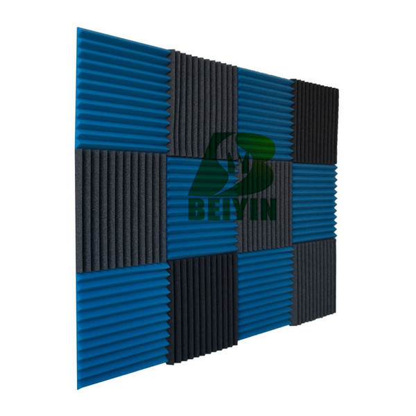 """best selling 24 Pieces Acoustic Foam Wedge Soundproof Decorative Material Recording Studio Acoustical Treatment Sound Absorption Sponges Wall Panel 12x1"""""""
