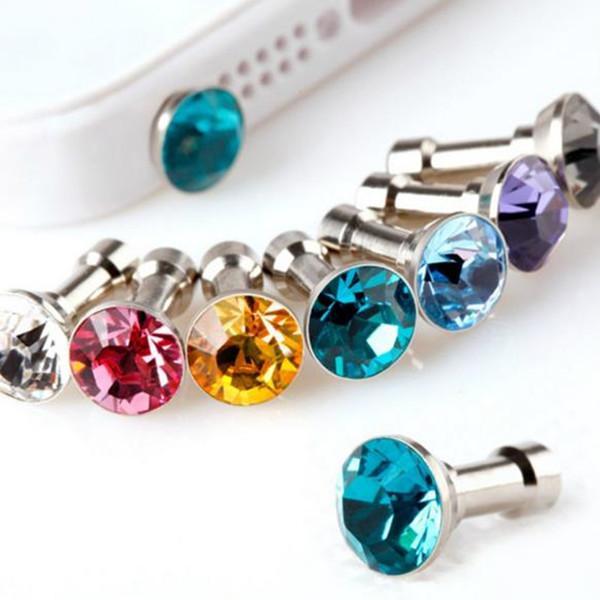 Spina antipolvere anti-diamante Tappi per cuffie Tappo Tappo Gadget Accessori per telefoni cellulari Strass Jack per cuffie da 3,5 mm