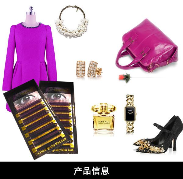 New Arrival 100% Human Hair Double Color Special Eyelash, Finest Quality Lash, Black+Purple