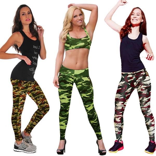 Military Camouflage Leggings Black Milk Zipper Fashion Womens Camouflage Sport Pants Fitness Clothing High Waist Leggings