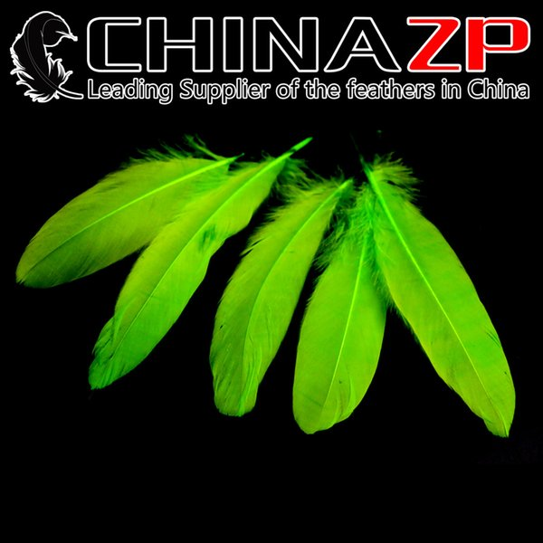 Leading Supplier CHINAZP Crafts Factory 10~15cm(4~6inch) Length Selected Top Quality Lime Green Goose Loose Feathers