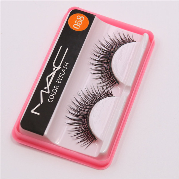 Fashion Eyelash Case False Eyelashes Handmade Natural Long Thick Eyes Makeup Eyelash Fake Eye Lash extensions M058 Factory Price Free DHL