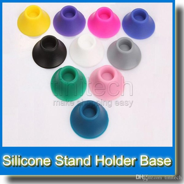 Colorful eGo Battery Base Silicone Sucker for Holding Ego Battery Electronic Cigarettes E cig Atomizer Fit for All Ego Battery Clearomizer