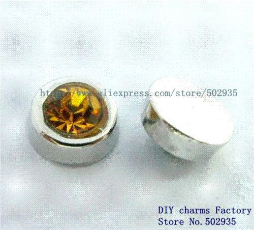 120pcs Mix Color Birth Stone Floating Charms Fit Floating charms lockets FC181 charming 12