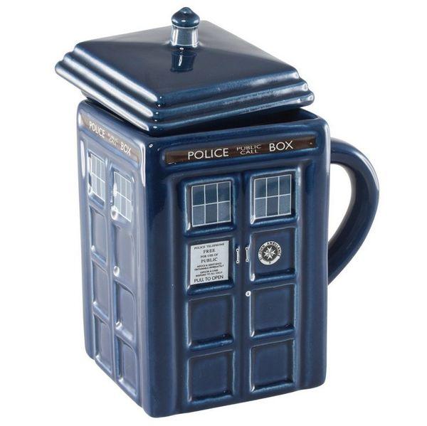 Tazza di alta qualità di Doctor Who Figural Tardis 2015, 17 once / tazza di acqua ceramica / medico che è tazze di tema DHL libera il trasporto