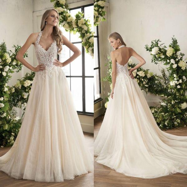 Großhandel Jasmine 2018 Boho Brautkleider Sexy Spitze Appliqued ...