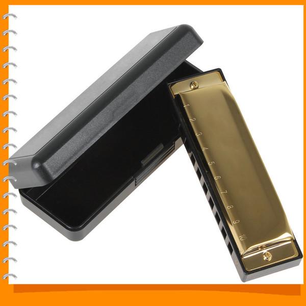 Armonica diatonica professionale Golden Swan Armonica Blues Reed 10 fori 20 toni Key of C / G Accessori per strumenti musicali
