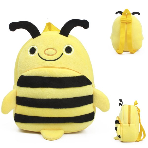 Schultaschen Kinder Baby schönen Rucksack Kindergarten Plüsch gelber Sack Kinder Cartoon Charakter Schule Bienenentwurf Junge Mädchen mini nette Beutel Spielzeug