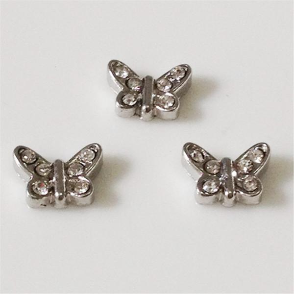 20PCS/Lot!! Butterfly Floating charms DIY Floating locket Charms Silvery Fit Floating lockets&Floating locket bracelets FC038