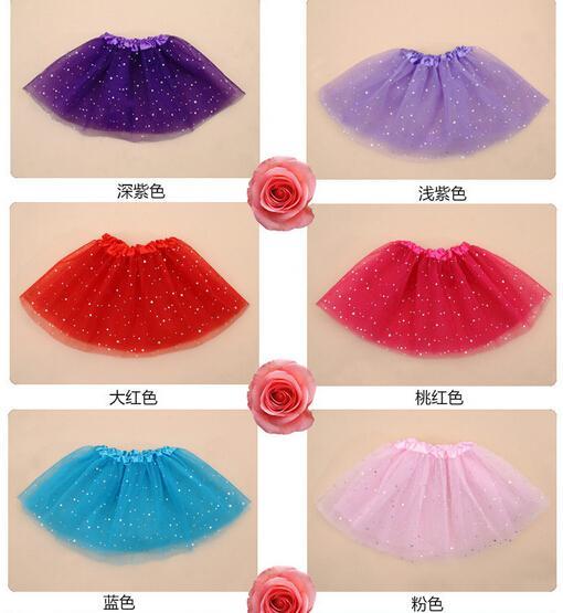 Baby bling TuTu Skirts Baby pettiskirt girls' skirts pettiskirts for kids tutu Chiffon children's day performance skirt dance veil Spark