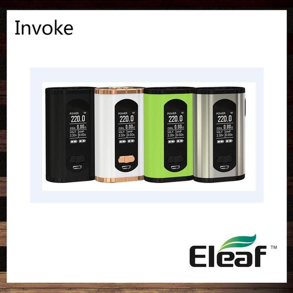Eleaf invoquer 220W TC Box MOD avec plus grand affichage de 1,3 pouces Fonction de banque de puissance de conception compacte et ergonomique 100% Original