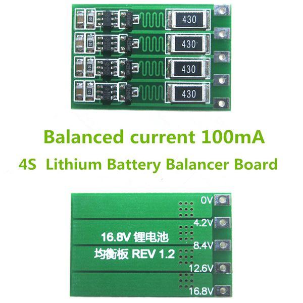 4S 100mA Lithium Battery Balancer Board 18650 Li-ion Battery Balancing Board Balance Current 14.8V 16.8V