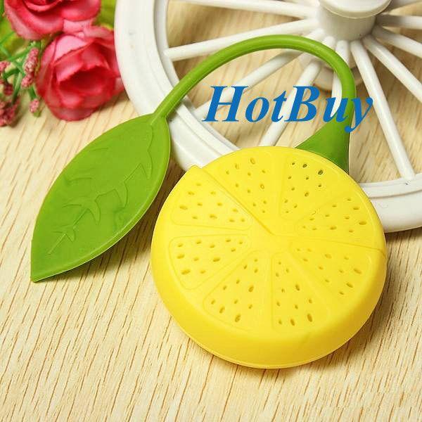 top popular Cute Lemon Silicone Tea Leaf Herbal Infuser Filter Diffuser Strainer #3563 2019