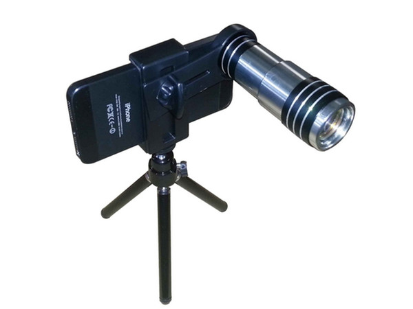 Useful popular 12x Zoom Optical Lens Mobile Phone Telescope Camera with Tripod for iphone 4 4s 5 6 htc xiaomi samsung