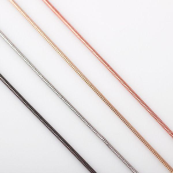 10 unids / lote Envío Gratis 4 colores Collar de Moda de Las Mujeres 65mm Cadena de la Serpiente Collar Fit Glass Living Cadena Locket Flotante