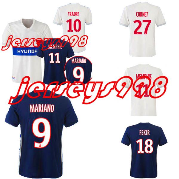 5adb6c90 TOP Thai 2017 2018 Olympique Lyonnais soccer Jersey Home away 3RD17 18  ABILY LACAZETTE GHEZZAL MEMPHIS