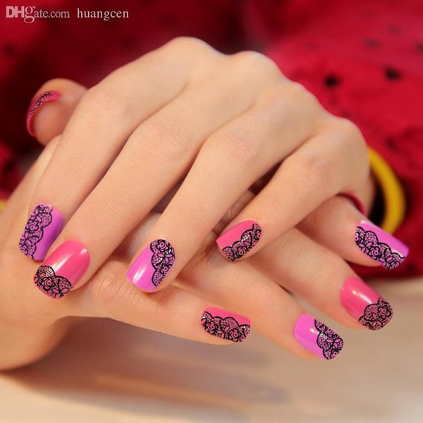 Wholesale nail art stickers sexy manicure decor for nail creative wholesale nail art stickers sexy manicure decor for nail creative diy strip lace flower tips prinsesfo Choice Image