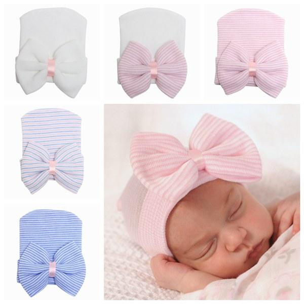 Accessories Hats & Caps Cheap Price Newborn Baby Hat Cloth Solid Color Soft Stitching Indian Hat Bow Baby Hair Accessories Spring Autumn Toddler Hat For Boys Girls