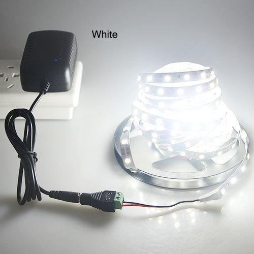 1Pack 5 метров одного цвета 300 светодиодов / M SMD 5050 светодиодные полосы света + DC Женский разъем + DC 12V 3A адаптер питания
