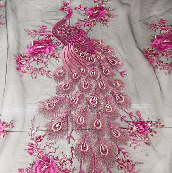 1 Yd environ 0.91 m broderie en dentelle de mariée mariage Sequin tissu collé paillettes French mesh