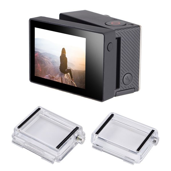 Freeshipping Display with Backdoor Back Cover LCD Screen For Go Pro Hero 4 3+ Black Camera For GoPro He ro 4 Accessories
