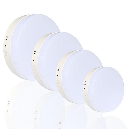 2016 neuheiten platz / runde led-panel licht oberfläche montiert led-deckenleuchte deckenleuchte AC85-265V Acryl lampenschirm mit direktem licht