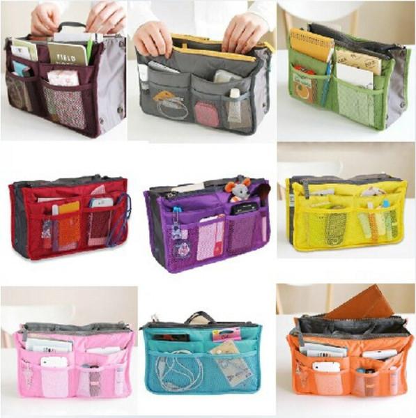 Nova Venda 100 PCS Make up organizador saco Das Mulheres Dos Homens saco de viagem Casual multi funcional Saco de armazenamento Saco de Cosméticos no saco Bolsa de 12 Cores