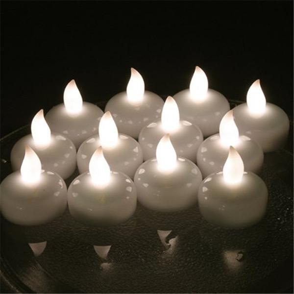 24pcs velas flotantes de la boda Vela para Casamento Led Bougie Mariage para la decoración de la boda Velas De Led con amarillo Velas Boda